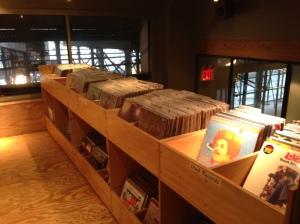 Used vinyl upstairs