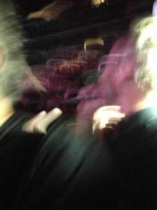Yes it's blurry ... this is how close I was as Matt sang Mr. November while wading through the crowd