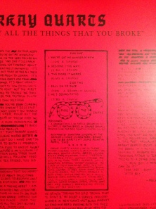 From the EP back cover